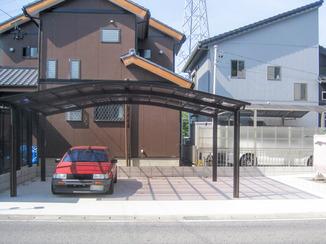 エクステリアリフォーム 広くなり手入れの必要も少なくなった駐車場